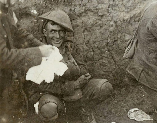 Shell shocked soldier, 1916